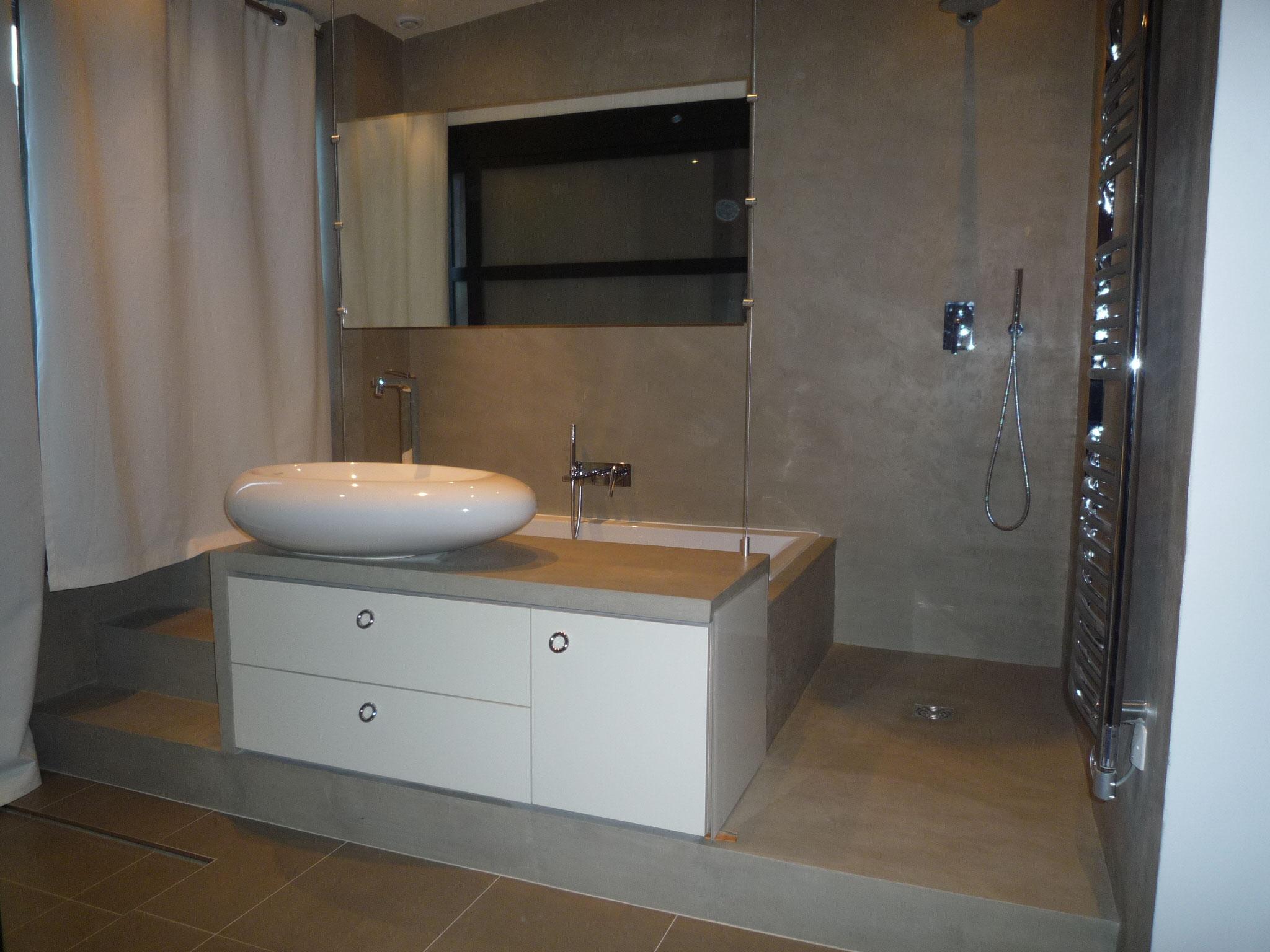 Salle de bain travertin leroy merlin - Deco salle de bain bambou bois ...